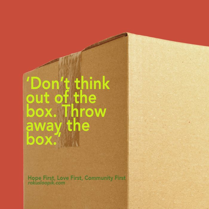 Recovery Quote 57 on: Throw away the box