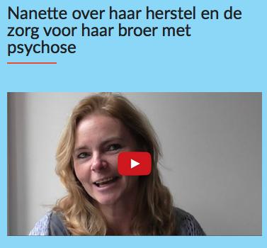 Nanette over haar herstel van depressie en over haar broer met psychose