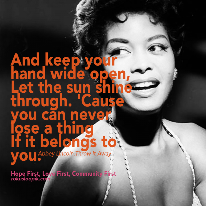 Recovery Quote 86: And Keep Your Hand Wide Open