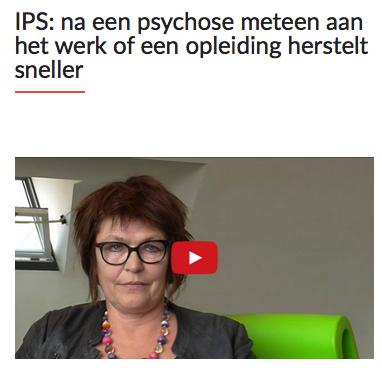 IPS: na een psychose meteen aan het werk of een opleiding herstelt sneller. Debby Kamstra