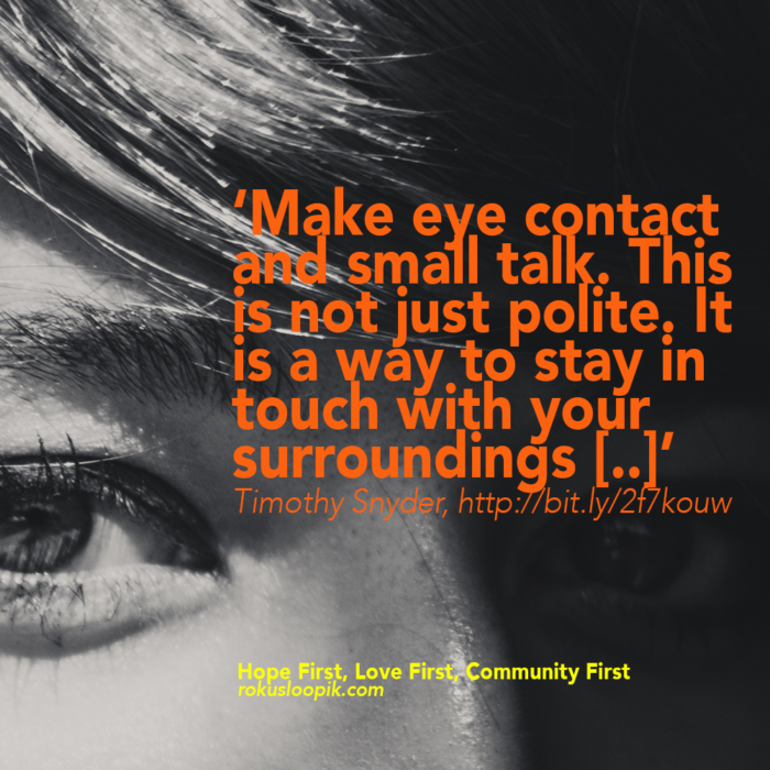 Recovery Quote 112: Make Eye Contact