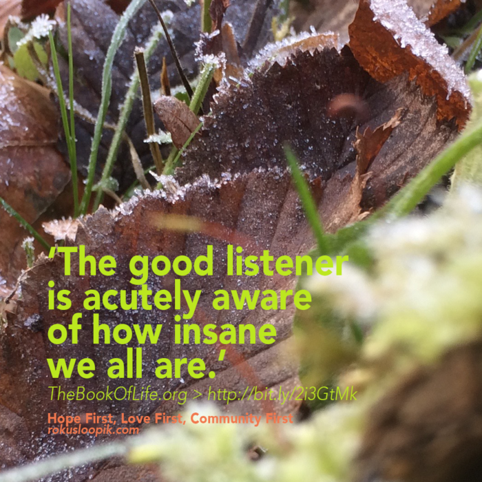 Recovery Quote 113: The Good Listener